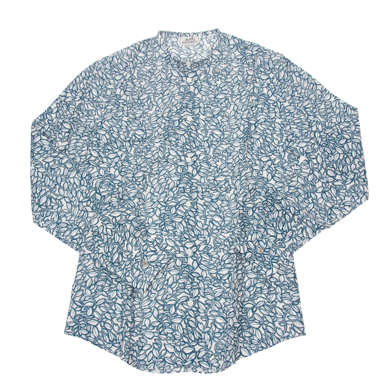VIP STATION-全新 HERMES 恤衫 白色/藍色 布料 38