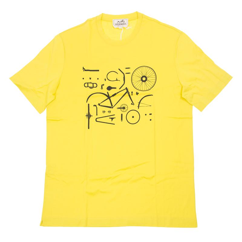 VIP STATION-全新 HERMES T恤 黃色 布料 S