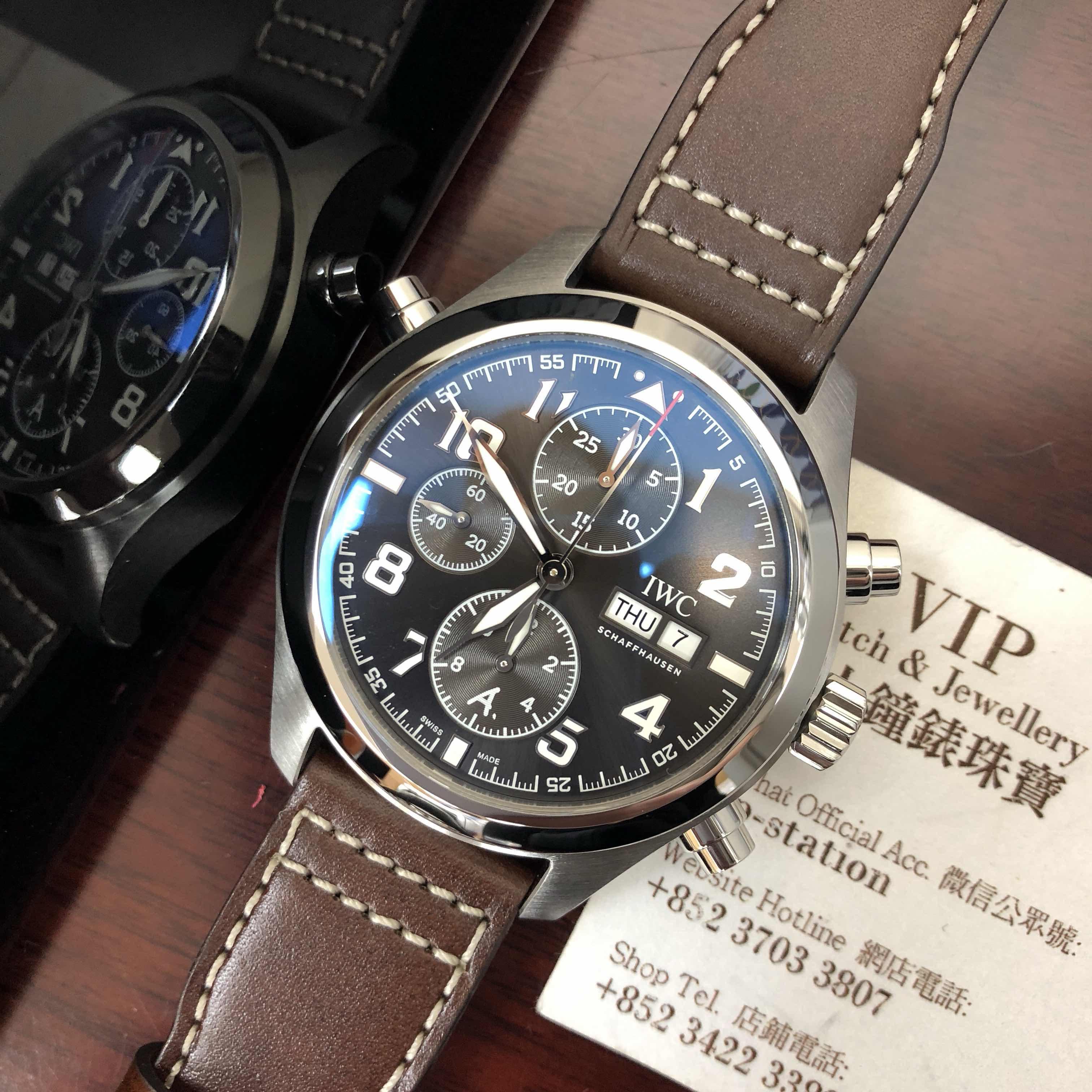save off 8e957 e8bc4 全新 IWC 萬國 飛行員系列 精鋼 啡色 自動機芯IW371808