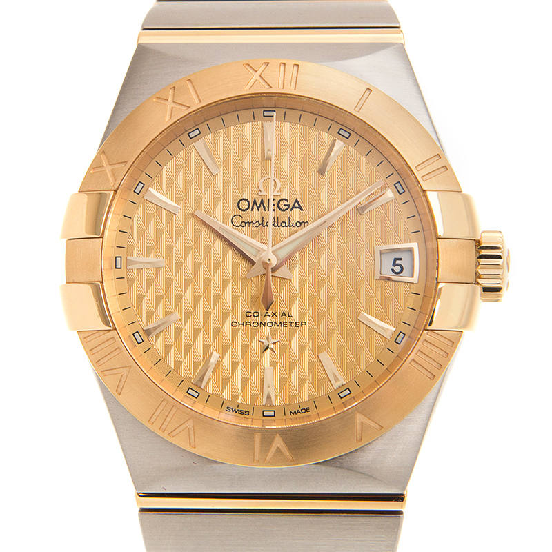 VIP STATION-全新 OMEGA 歐米茄 星座系列 金鋼 金色 自動機芯 123.20.38.21.08.002