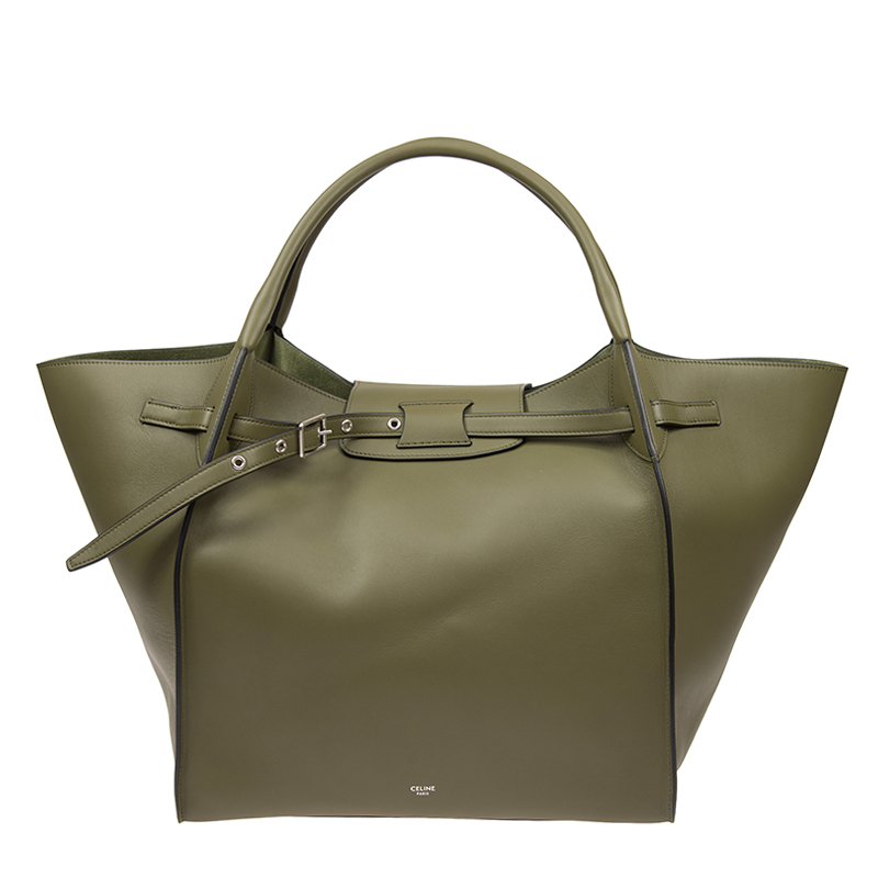 VIP STATION-全新 CELINE 賽琳 手袋 中型 BIG BAG 18986 3A4T 31GR 牛皮 綠色
