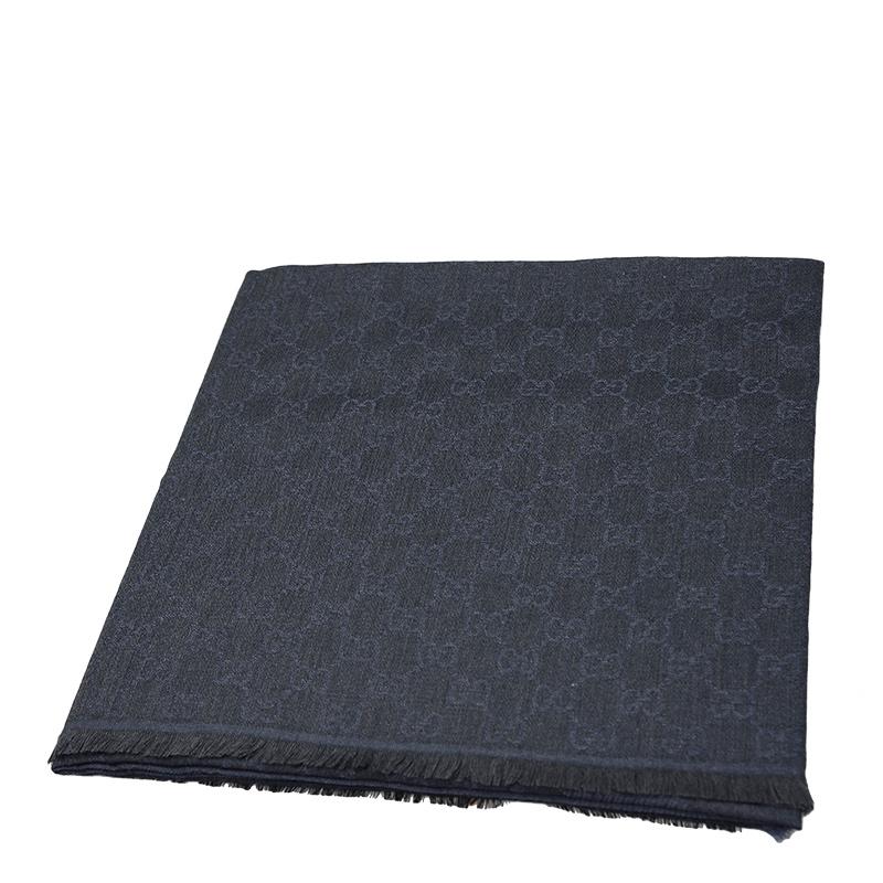 VIP STATION-全新 GUCCI 古馳 頸巾 281942 3G704 4160 羊毛 黑色