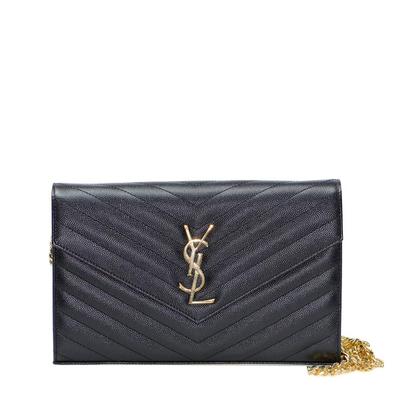 VIP STATION-全新 YSL / SAINT LAURENT 聖羅蘭 手袋 377828 BOW01 1000 牛皮 黑色