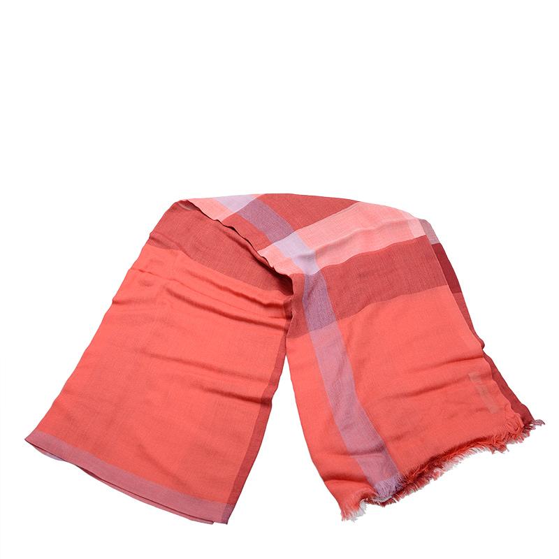 VIP STATION-全新 BURBERRY 博柏利 頸巾 3978151 纖維/羊毛 橙色