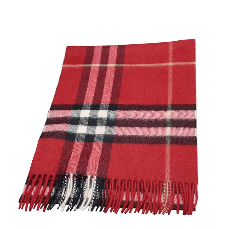 VIP STATION-全新 BURBERRY 博柏利 頸巾 3993742 羊毛 紅色