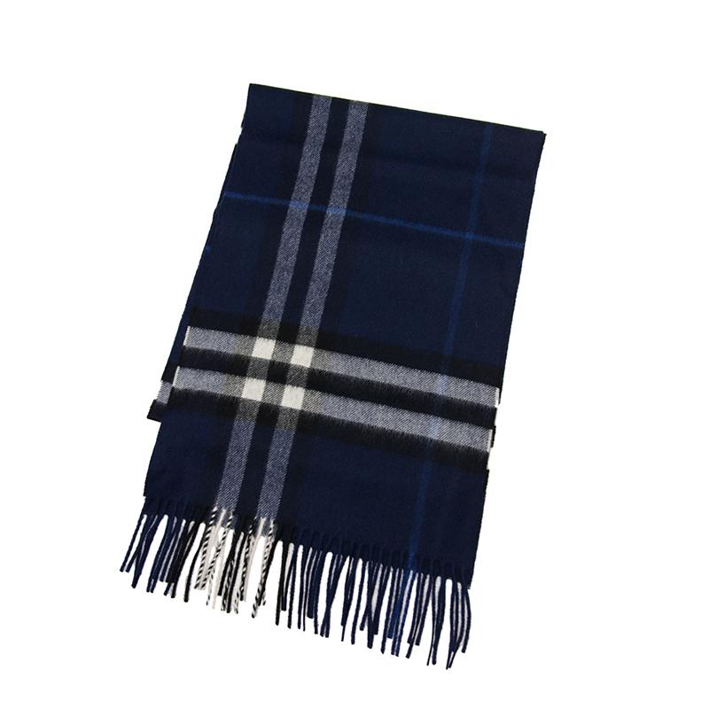 VIP STATION-全新 BURBERRY 博柏利 頸巾 3994306 羊毛 藍色/黑色