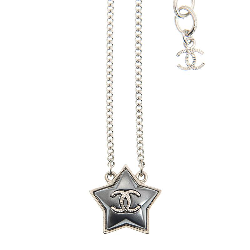 VIP STATION-全新 CHANEL 香奈兒 頸鏈 A99147 金屬 銀色