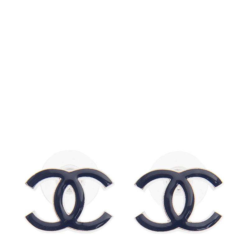 VIP STATION-全新 CHANEL 香奈兒 耳環 AB0434 金屬 藍色