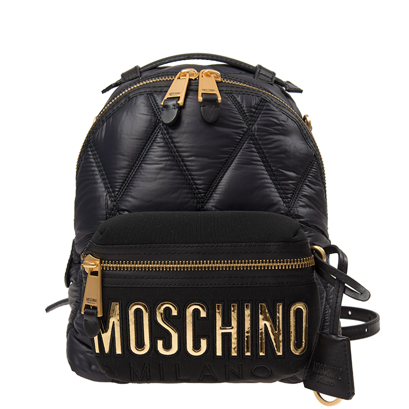 VIP STATION-全新 MOSCHINO 莫斯奇諾 手袋 B7605 8207 1555 棉 黑色