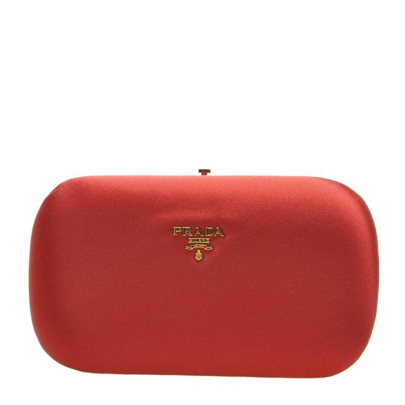 VIP STATION-全新 PRADA 普拉達 手袋 BP0494 AC4 F068Z 絹布 紅色
