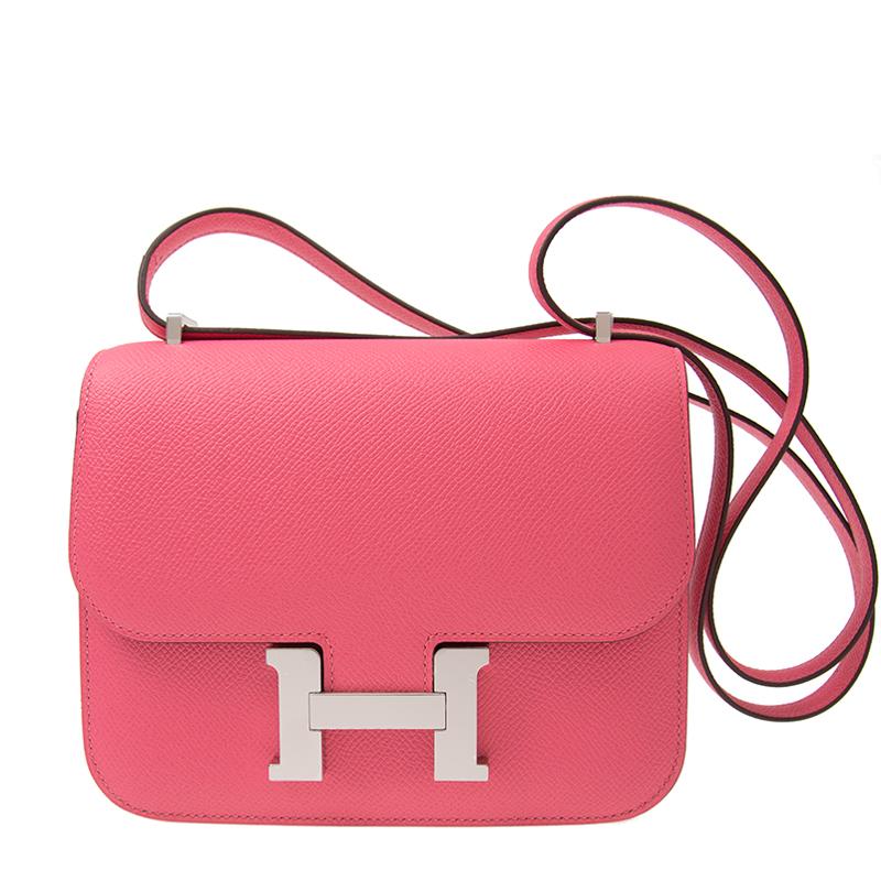 VIP STATION-全新 HERMES 愛馬仕 手袋 CONSTANCE 18 8W 粉紅色 EPSOM 銀扣