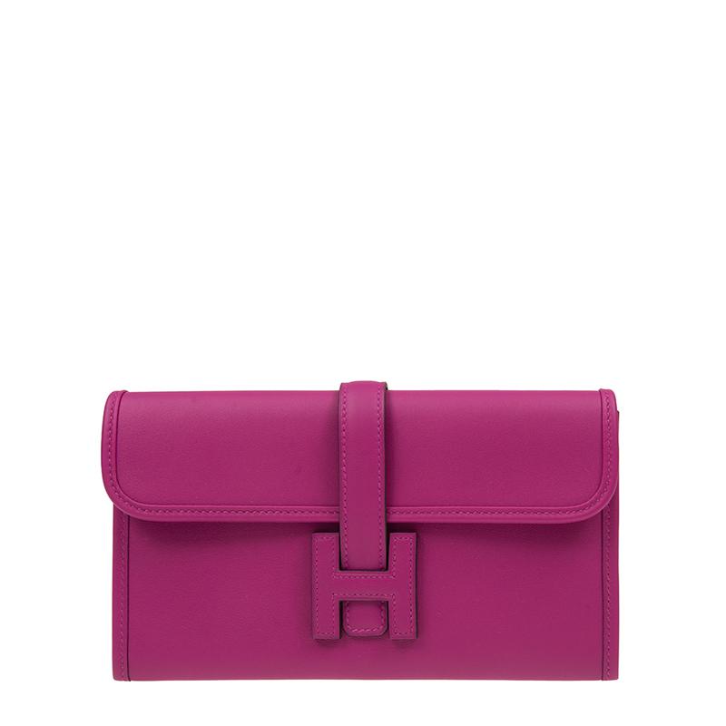 VIP STATION-全新 HERMES 愛馬仕 手袋 JIGE DUO L3/76  紫色 SWIFT