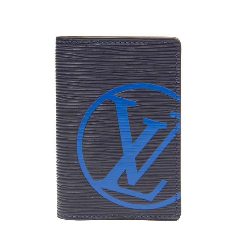 VIP STATION-全新 LOUIS VUITTON 路易威登 短身折疊款銀包 ORGANIZER M67905 皮革 深藍色