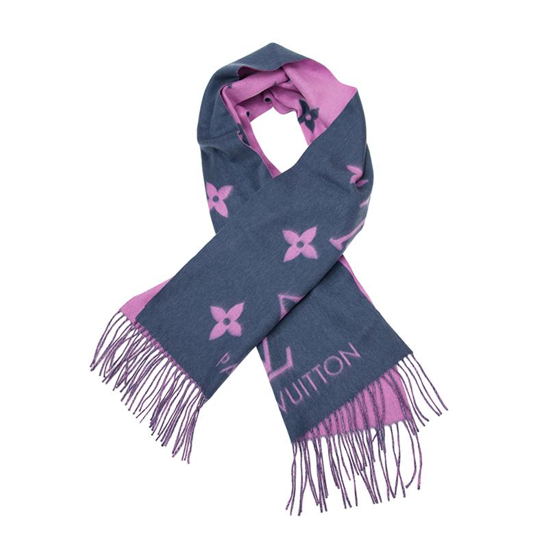 VIP STATION-全新 LOUIS VUITTON 路易威登 頸巾 M70463 純羊絨 藍色