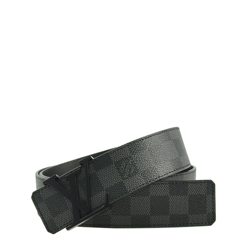 VIP STATION-全新 LOUIS VUITTON 皮帶 M9808U 黑色 皮革 90CM