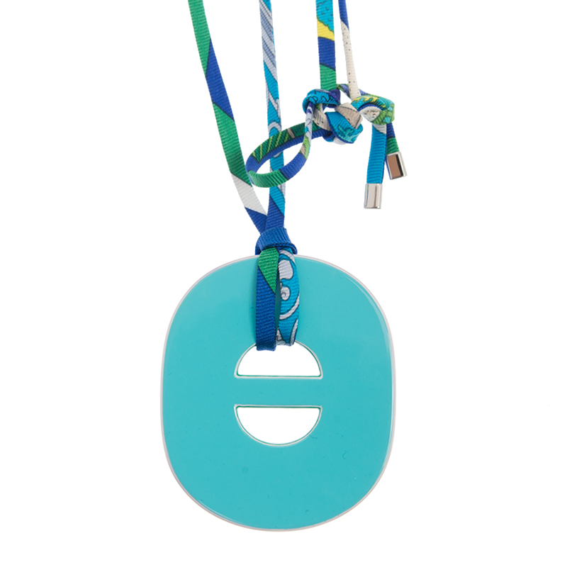 VIP STATION-全新 HERMES 愛馬仕 項鏈 7T/7N 藍色/淺藍色 水牛角