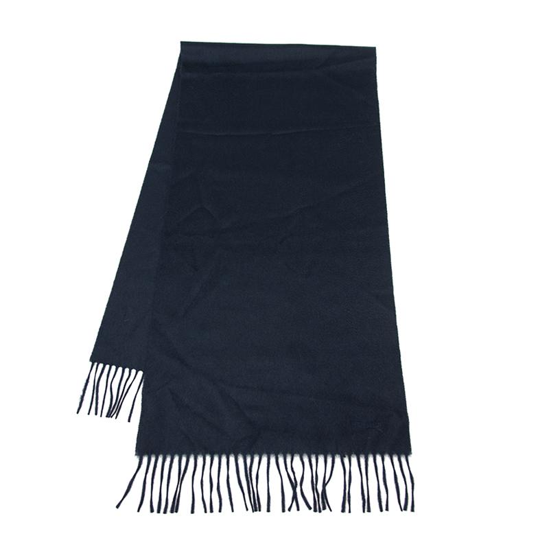VIP STATION-全新 HERMES 愛馬仕 頸巾 羊毛 藍色