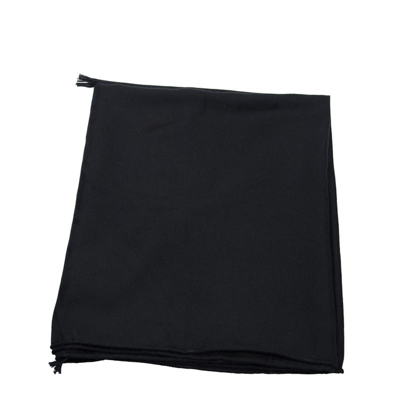 VIP STATION-全新 HERMES 愛馬仕 頸巾 羊毛 黑色