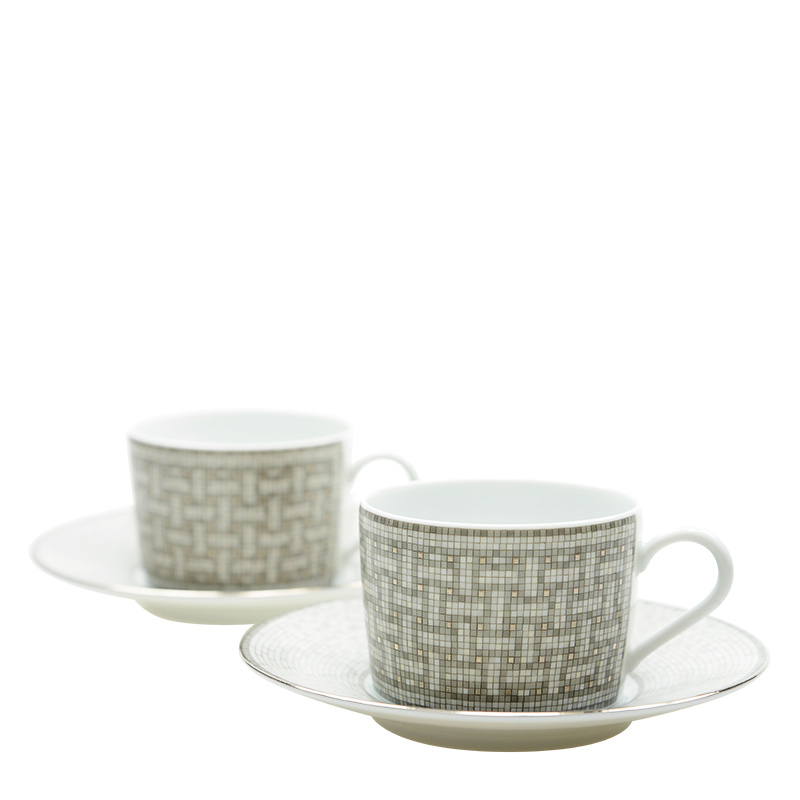 VIP STATION-全新 HERMES 茶具 白色/銀色 瓷