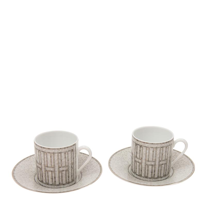 VIP STATION-全新 HERMES 茶具 白色/銀色 瓷 小號