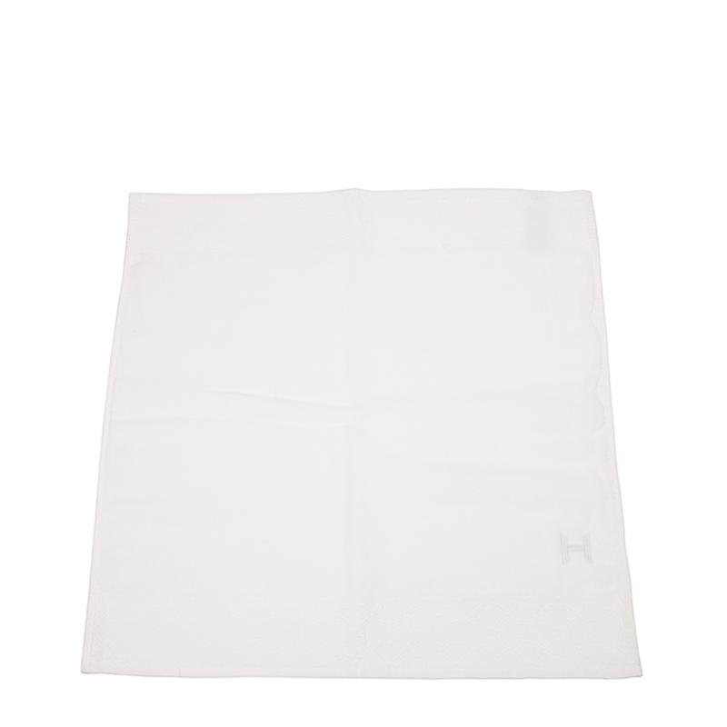 VIP STATION-全新 HERMES 愛馬仕 手巾 白色 棉