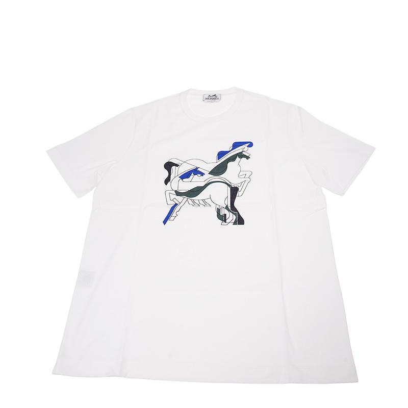 VIP STATION-全新 HERMES 愛馬仕 T恤 白色 布料 L