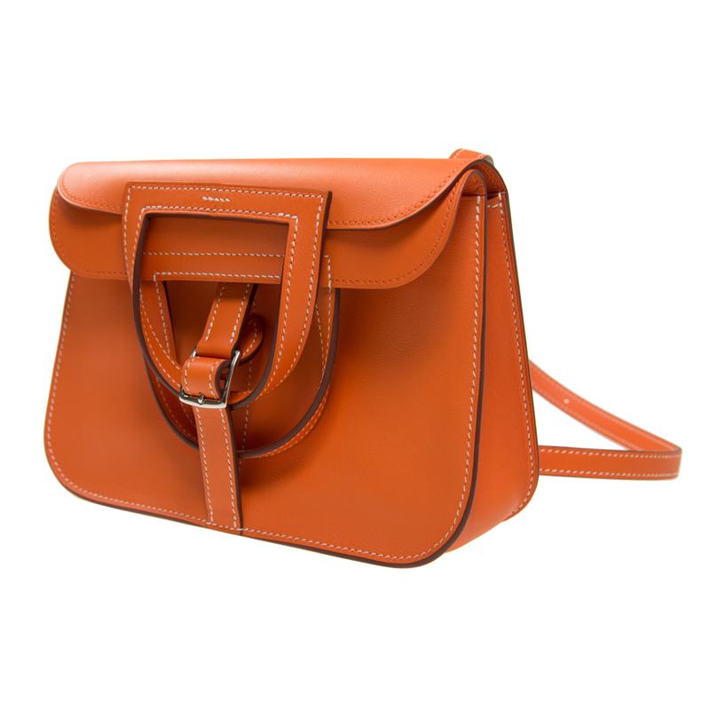79b34b0be6 全新HERMES 愛馬仕手袋HALZAN MINI AK (93 93) SWIFT SWIFT 橙色