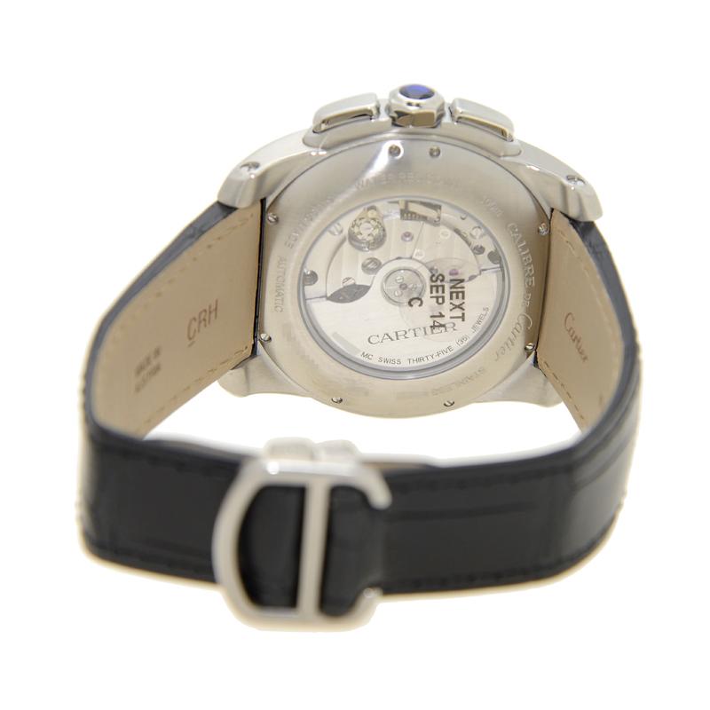 [未使用品] Cartier カルティエ カリブル ドゥ カルティエ ステンレス シルバー 自動巻き W7100046
