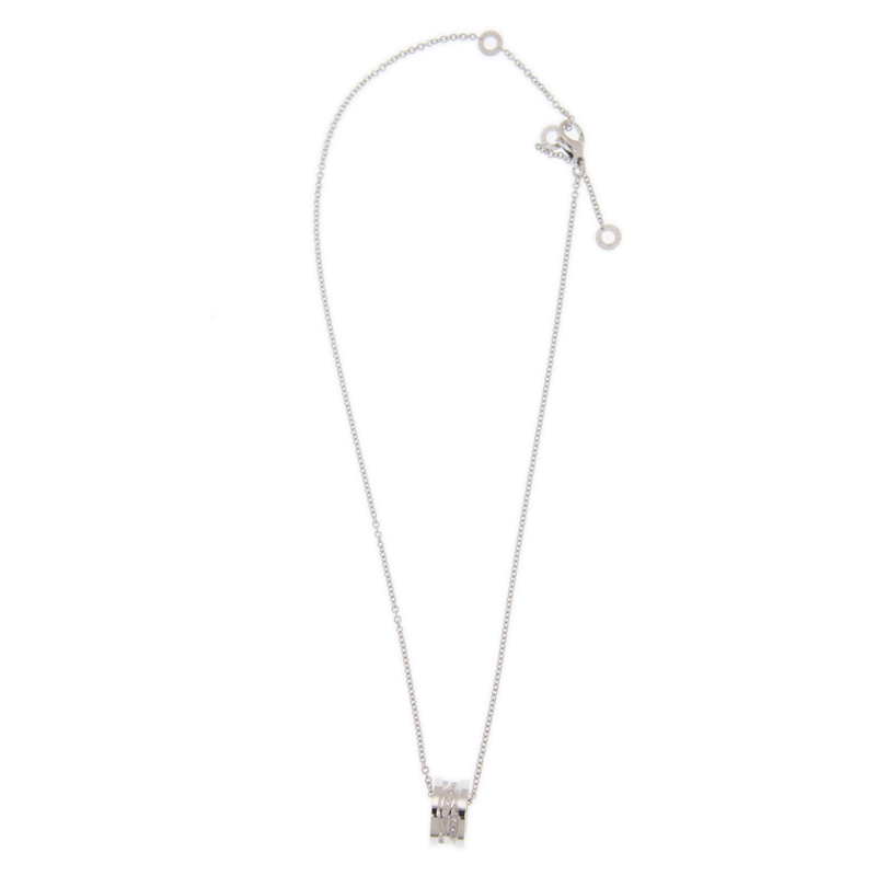 NEW BULGARI NECKLACE CL858364 18K WHITE GOLD  SILVER