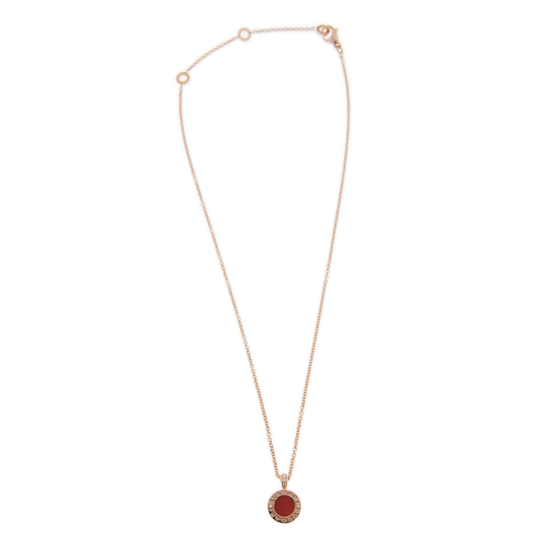 NEW BULGARI NECKLACE CL857941 18K ROSE GOLD RED